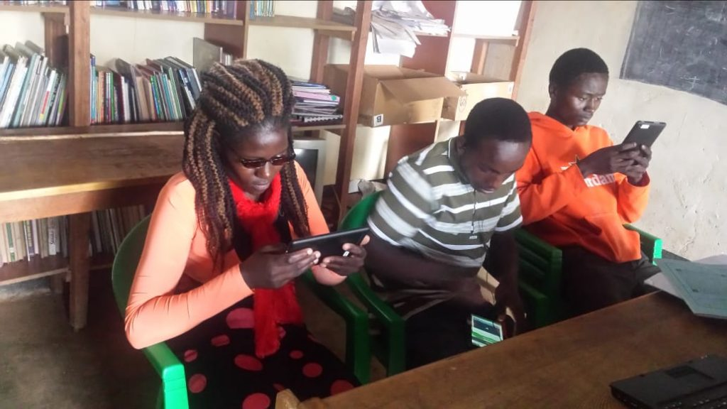 Learners in Kenya enjoying offline learning content on their phones after the Learn Appeal Capsule launched in Kenya